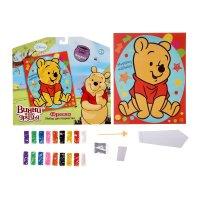 Фреска милому малышу, медвежонок винни, с блестками + бонус игрушка
