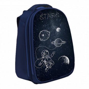 Рюкзак каркасный calligrata, 37 х 28 х 19, «космос», синий