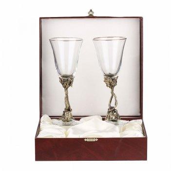 Набор из двух бокалов для шампанского лоза (ретро) в футляре бумвинил