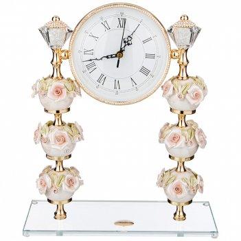 Часы настольные capo di monte 30*12 см высота 36 см циферблат 14,5 см