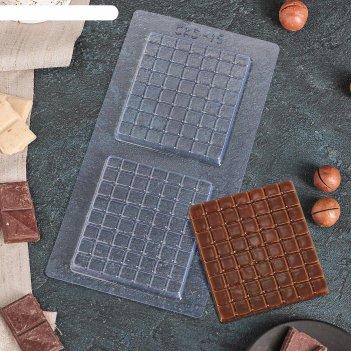 Форма для шоколада мини шоколад 21,5x11 см