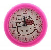 Часы настенные круглые hello kitty, детские, фуксия