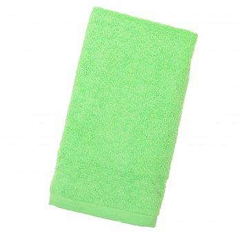 Полотенце collorista однотонное, цв. ярко-зелёный, 50*90 см, 400 гр/м2