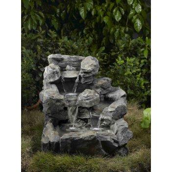Декоративный фонтан для сада  горный ручей