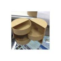 Шкатулка раскладная круглая, картон,10х10х12 см
