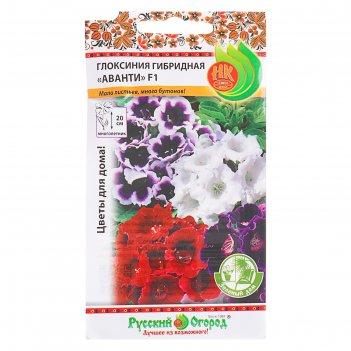 Семена комнатных цветов глоксиния гибридная аванти зеленый дом, мн, 7 шт