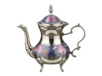 Чайник цветная эмаль высота=19 см.