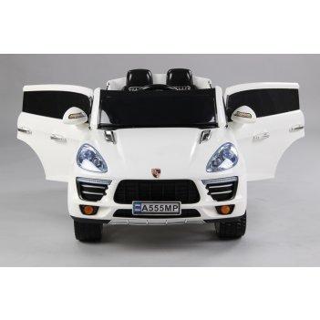 Электромобиль джип porsche а555мр vip белый new 2015