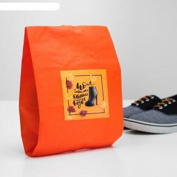 Мешок для обуви моя любимая осенняя обувь  женский