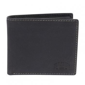 Бумажник klondike yukon, натуральная кожа в черном цвете, 11 х 2 х 9,5 см