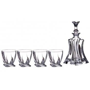 Набор для виски флорал 5 пр.: штоф+4стакана 700/...