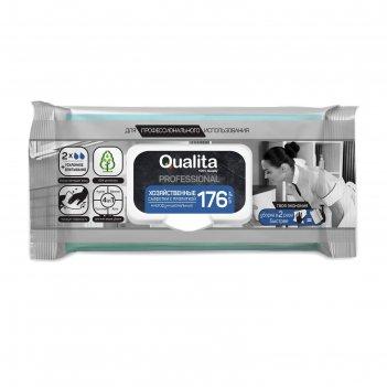 Влажные хозяйственные салфетки qualita с пропиткой ,176шт