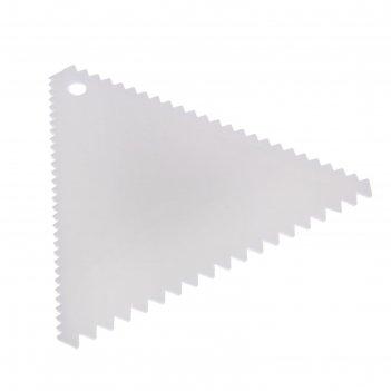 Шпатель кондитерский «зубчики», 11x11см