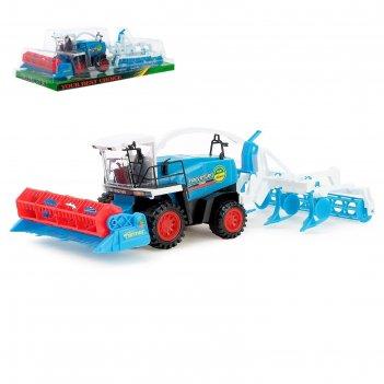 Трактор инерционный «комбайн», с прицепом