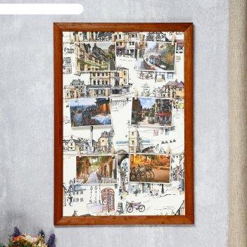 Фоторамка-коллаж город (на 6 фото) 40х60 см