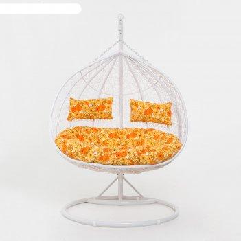 Подвесное кресло, цвет белый, в наборе подушка, 45-004-05