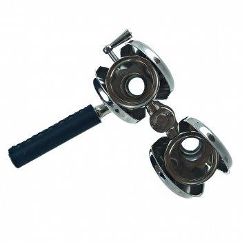 Бинокль подарочный с ручкой 12*9*13см. (металл-никель, стекло, кожзам) (по