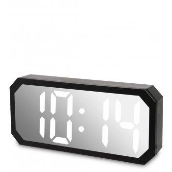 Ял-07-22/2 часы электронные сред. зеркальные (белые с черным циферблатом)