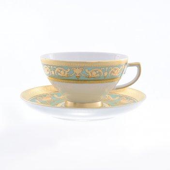 Набор чайных пар 220 мл  imperia seladon gold  (6 пар)