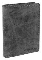 Портмоне wenger arizona, черный, воловья кожа, 11×3×16 см