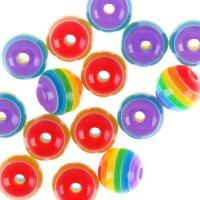 Бусины zlatka акрил str-12 12мм  набор 50±2шт (04 разноцветный)