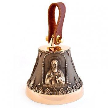 Колокольчик бронзовый с иконой сергия радонежского
