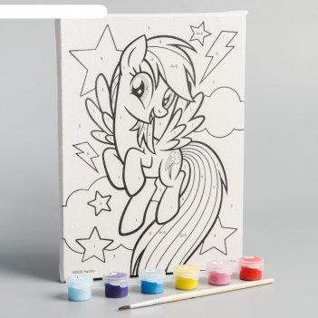 Картина по номерам «радуга дэш», my little pony,  21 х 15 см