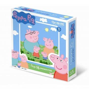Пазл peppa pig, 16 элементов