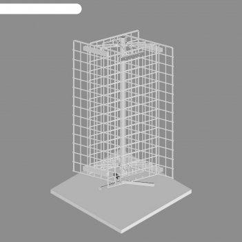 Сетка-стойка настольная вращающаяся, с сеткой, 4 стороны, 70*35 см, пруток