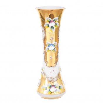 Ваза для цветов bohemia лепка белая 22см