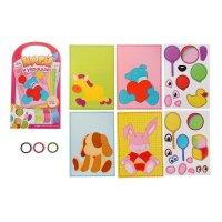 Аппликация клейкой лентой страна игрушек 4 картинки + наклейки + цветная к