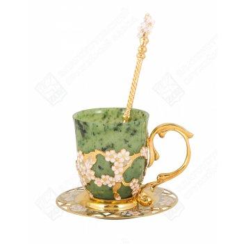 Набор чайный сакура (нефрит)