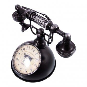 Часы настольные ретро телефон 27*18*20см