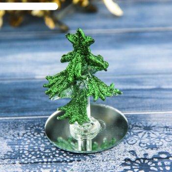 Фигурка стекло d-5,5 см елочка зеленая