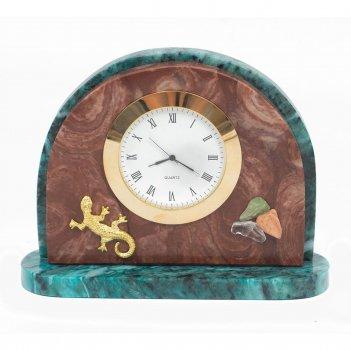 Часы ящерица лемезит змеевик