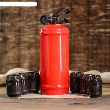 Штоф с рюмками огнетушитель набор 7 предметов 1,8 л