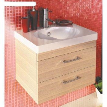 Тумба-умывальник для ванной ницца-60 45,5 х 60 х 45 см подвесная с раковин
