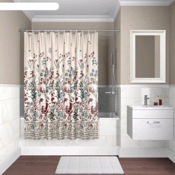 Штора для ванной комнаты iddis d03p118i11, 180x180 см, полиэстер
