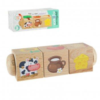 Кубики деревянные на оси что за чем следует?