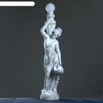 Лампа интерьерная девушка с кувшином бронза 145см
