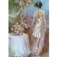"""Рисунок для вышивания бисером """"балерина.утро"""""""