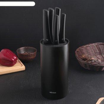 Набор nadoba vlasta из 5 кухонных ножей с блоком,лезвие: 9 см; 12,5 см;17,