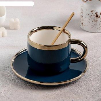 Чайная пара глория 220 мл 11,5х8x6,5 см, блюдце d=15 см, в комп с лож, цве