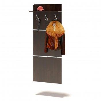 Настенная вешалка «вш-5.1», 600 x 212 x 1460 мм, цвет венге