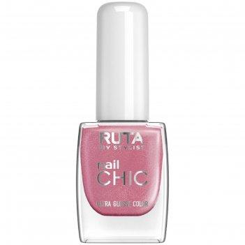 Лак для ногтей ruta nail chic, тон 43, вечерняя лилия