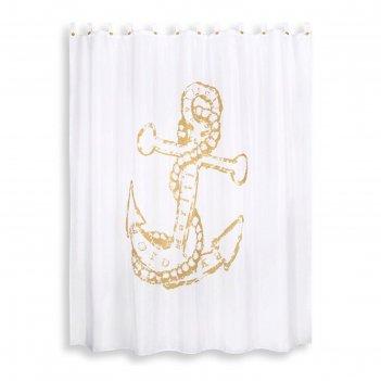Штора из ткани для ванной комнаты 200х200 см maritime yellow
