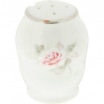 Солонка, bernadotte, декор бледные розы, отводка платина