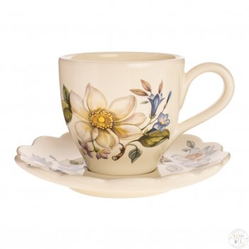 Набор чашка с блюдцем 2 предмета artigianato ceramico