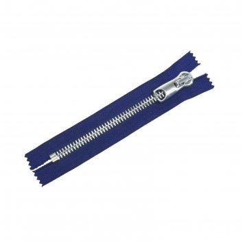 Молния для одежды, неразъёмная, №12, 18 см, цвет синий