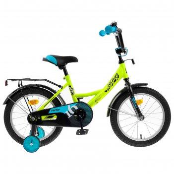Велосипед 16 novatrack vector, 2020, цвет салатовый